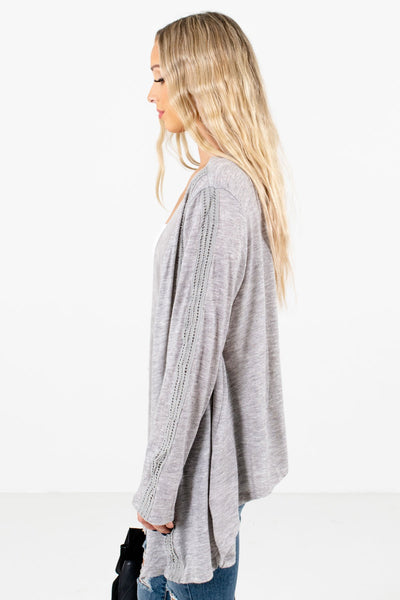 Heather Gray Warm and Cozy Boutique Cardigans for Women
