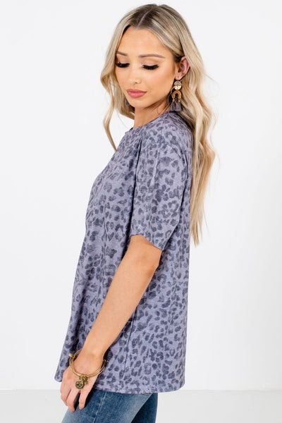 Gray Casual Everyday Boutique Tops for Women