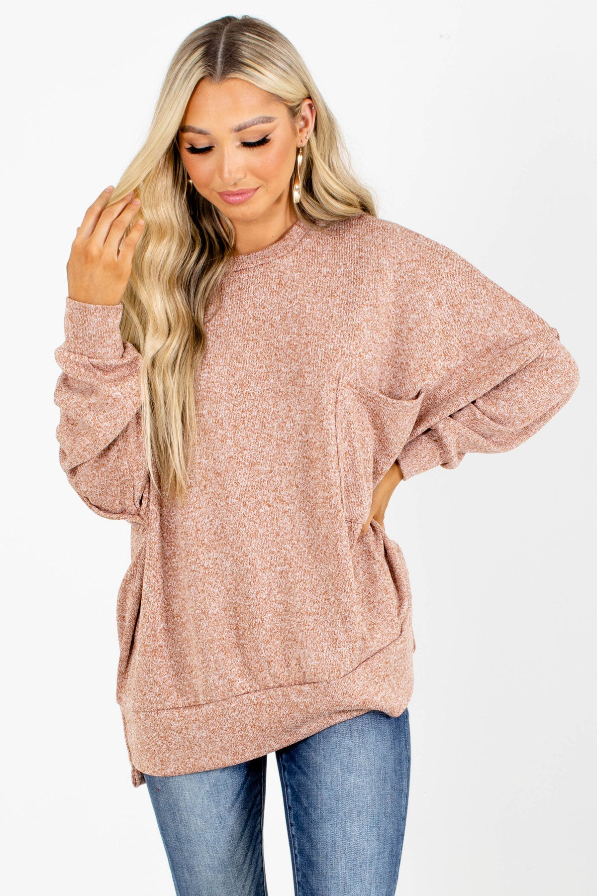 Pink Oversized Boutique Sweaters for Women