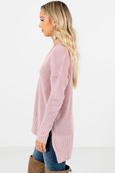 Women's Pink Casual Everyday Boutique Sweaters