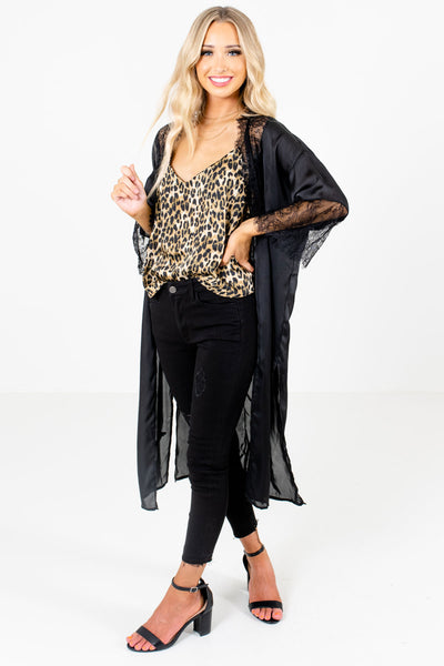 Black Cute and Comfortable Boutique Kimonos for Women