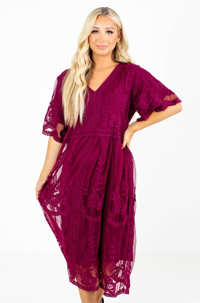 Shooting Star Lace Midi Dress