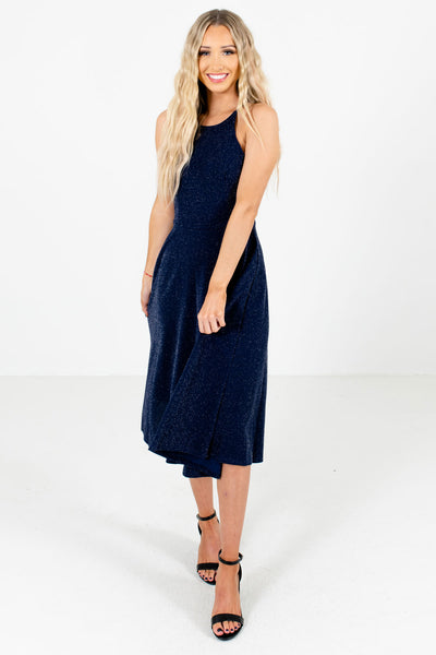 Women's Navy Blue Holiday Boutique Dresses