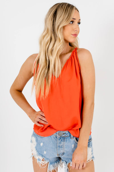 Coral Cute and Comfortable Boutique Tank Tops for Women