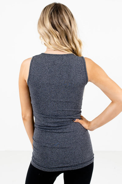 Women's Charcoal Gray Stretchy Material Boutique Tank Top