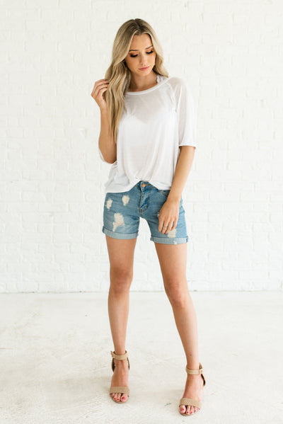 White Boutique Layering Tops for Women