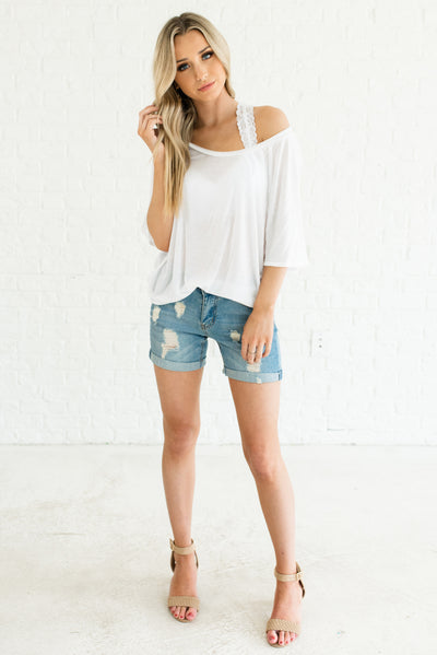 White Women's Casual Boutique Clothing