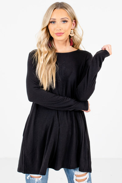 Women's Black Layering Boutique Tops