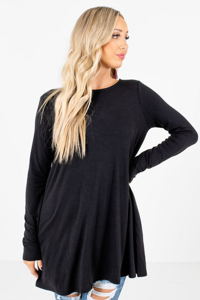 Women's Black Soft High-Quality Material Boutique Tops