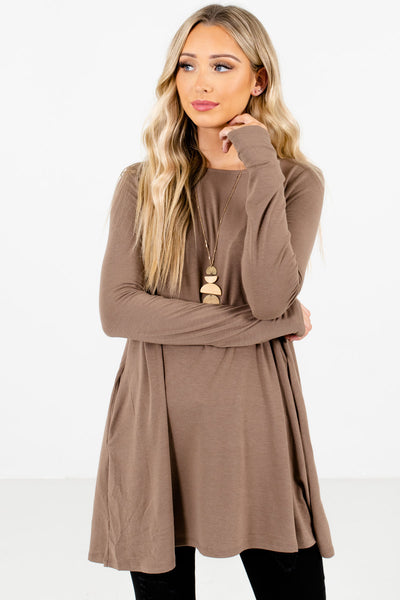 Women's Brown Soft High-Quality Material Boutique Tops