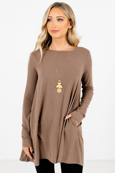 Brown Boutique Long Sleeve Tops for Women