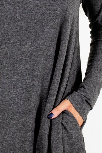 Charcoal Gray Affordable Online Boutique Clothing for Women