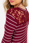 Burgundy Cute and Comfortable Boutique Tops for Women