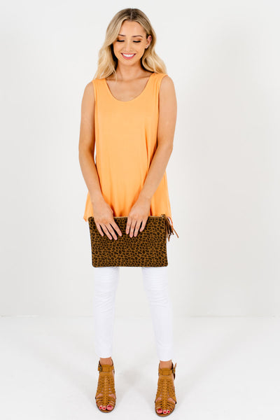 Women's Orange Spring and Summertime Boutique Clothing