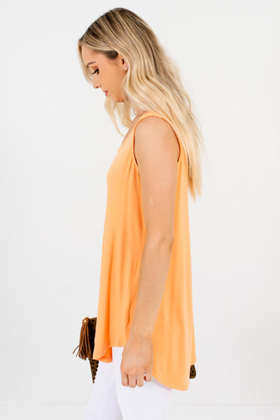 Orange Cute and Comfortable Boutique Tank Tops for Women