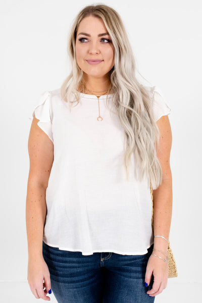 White Plus Size Blouses Affordable Online Boutique Summer Fashion