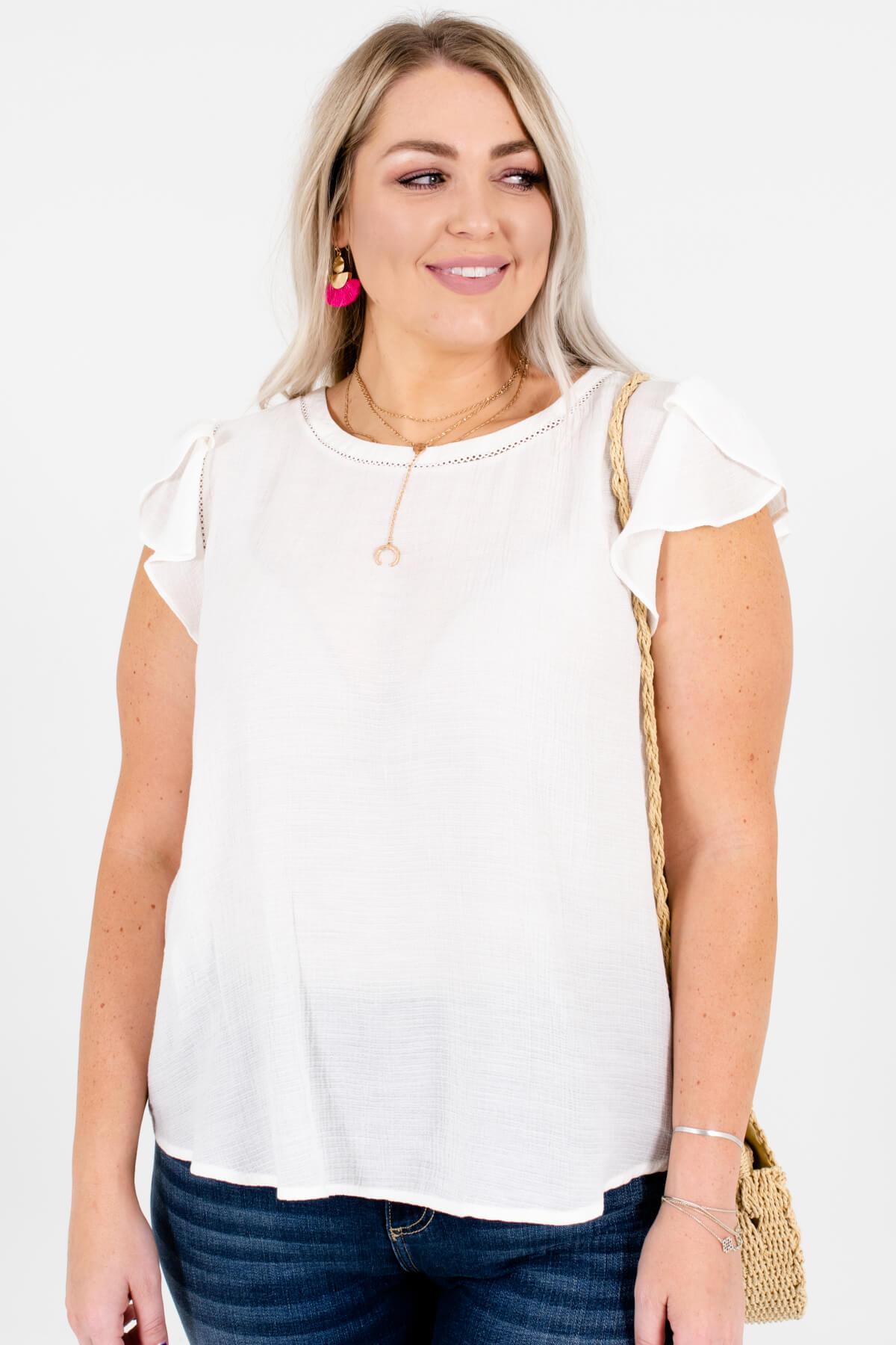 beautiful design top-rated quality durable service Simply Splendid White Blouse