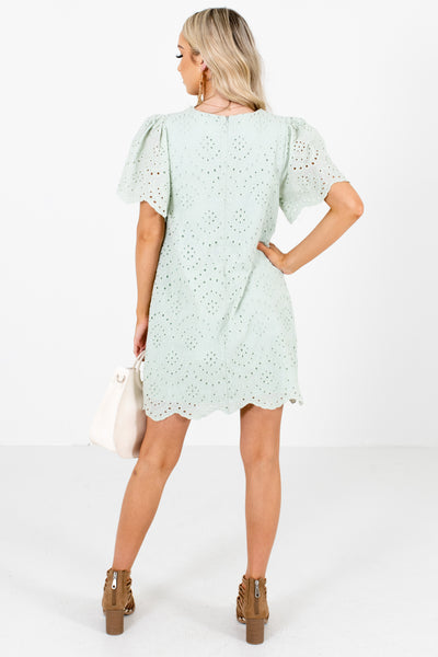 Green Partially Lined Boutique Mini Dresses for Women