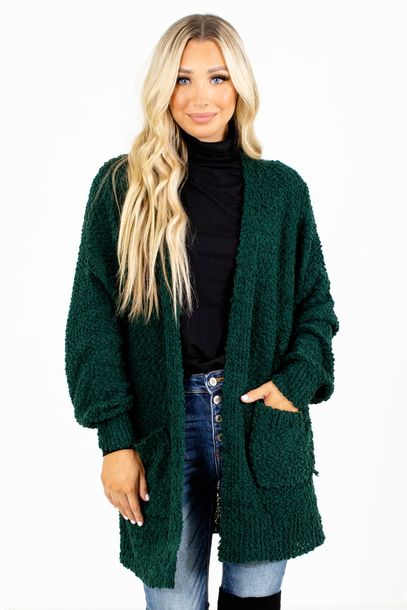 Small Talk Popcorn Knit Cardigan