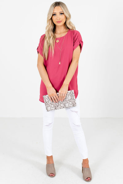 Women's Rose Pink Fall and Winter Boutique Clothing