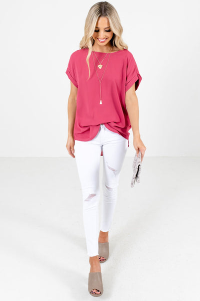 Rose Pink Cute and Comfortable Boutique Blouses for Women