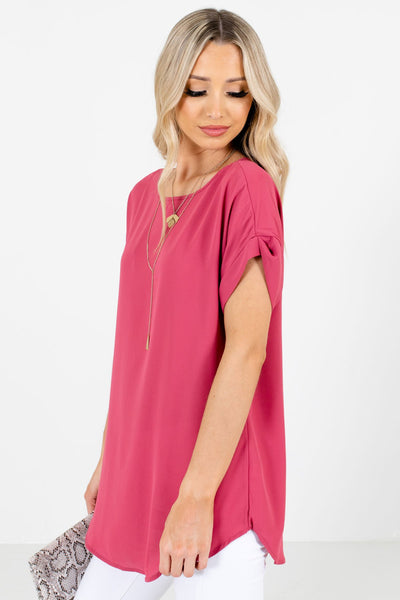 Rose Pink Layering Boutique Blouses for Women