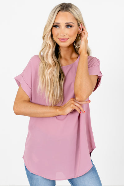 Pink Lightweight High-Quality Women's Boutique Blouse