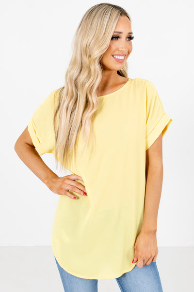 Women's Yellow Cute and Comfortable Boutique Blouse