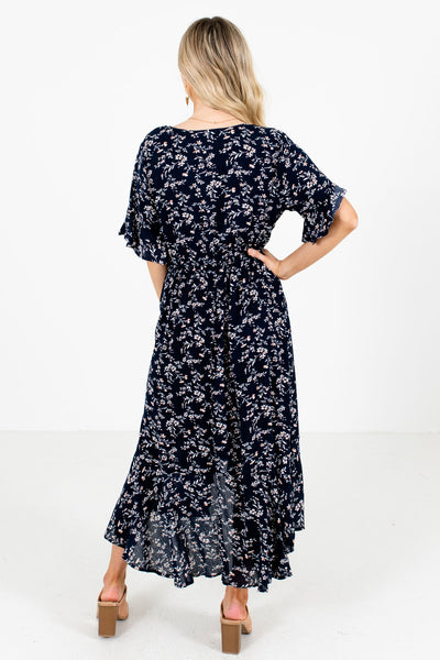 Women's Navy High-Low Hem Boutique Midi Dress