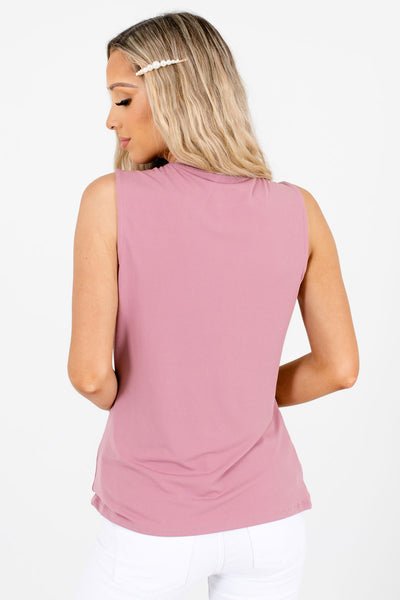 Women's Pink Tank Style Boutique Tops