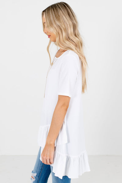 White Business Casual Boutique Tops for Women