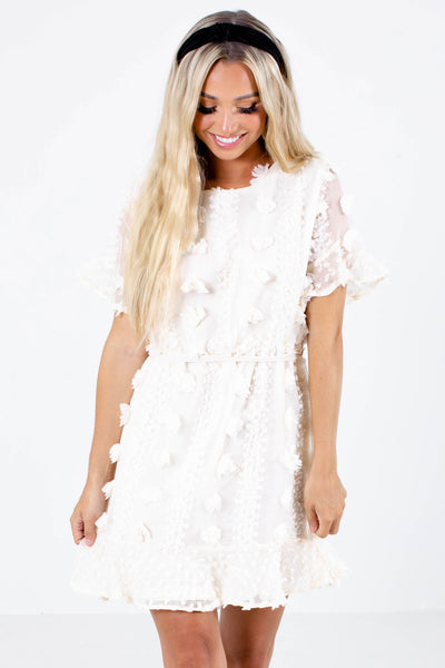 So Romantic Textured Mini Dress