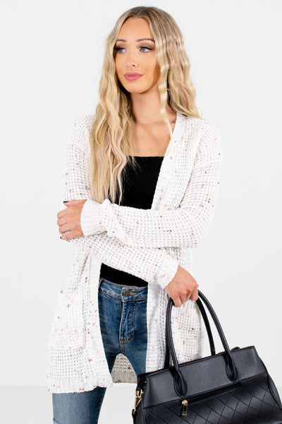 Women's Cream Warm and Cozy Boutique Cardigan