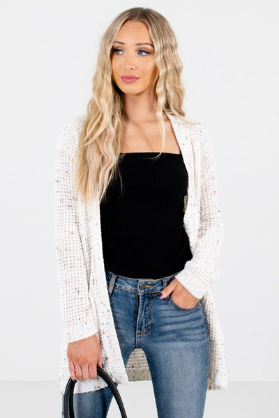 Women's Cream Casual Everyday Boutique Cardigan