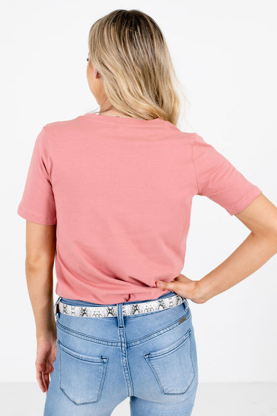 Women's Pink Layering Boutique Tops