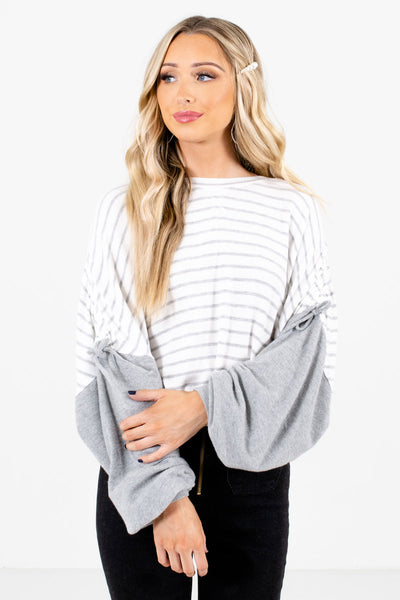 White Casual Everyday Boutique Tops for Women