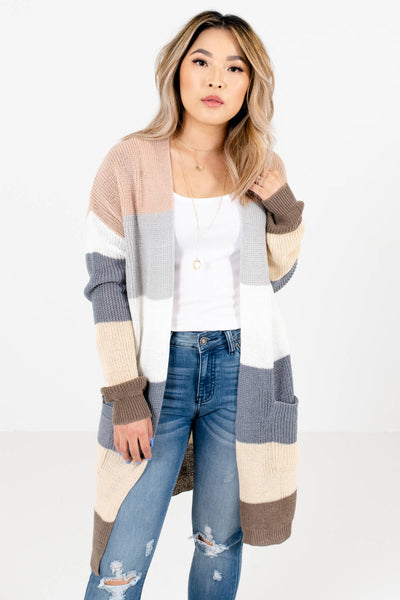 Women's Blue Relaxed Fit Boutique Cardigan
