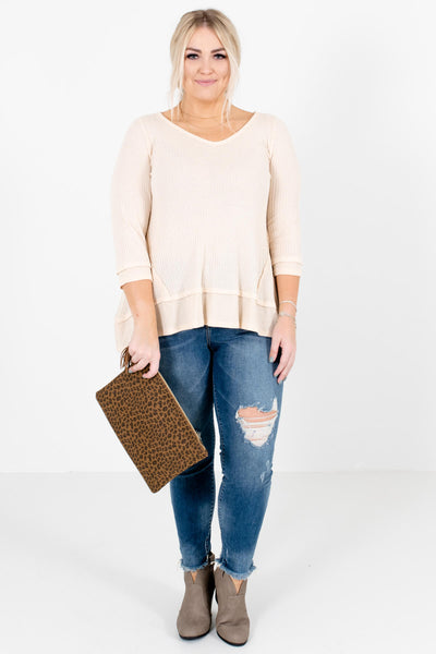 Women's Cream Fall and Winter Boutique Clothing