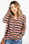 Multicolored Striped Boutique Tops for Women