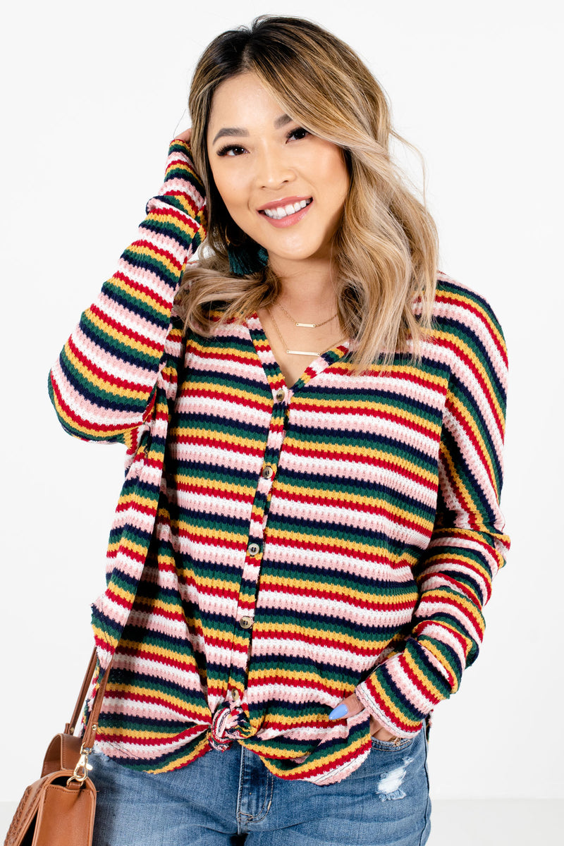 Something Magical Pink Multi Striped Top