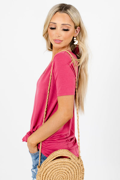 Pink Lightweight High-Quality Material Boutique Tops for Women