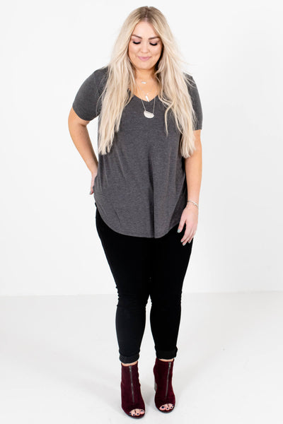 Women's Charcoal Gray Fall and Winter Boutique Clothing