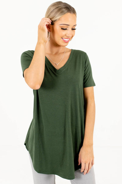 Women's Green Oversized Relaxed Fit Boutique Top