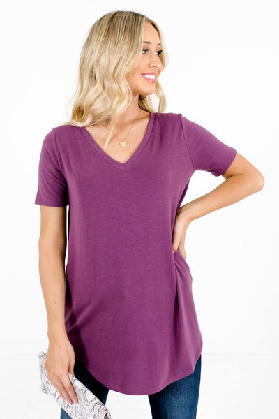 Purple Layering Boutique Tops for Women
