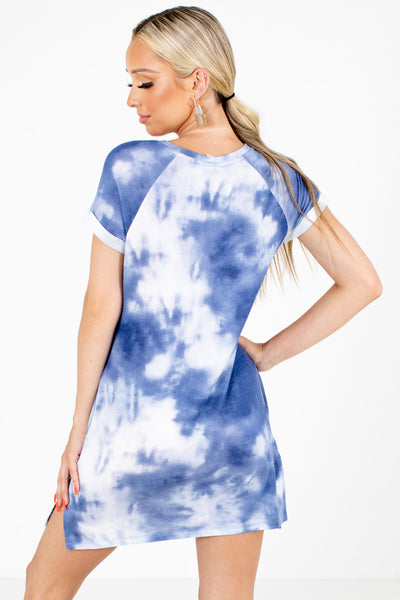 Women's Blue Boutqiue Dress with Pockets