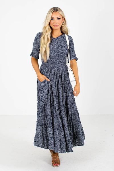 Navy Midi Dress Online Boutique Clothing Store for Women