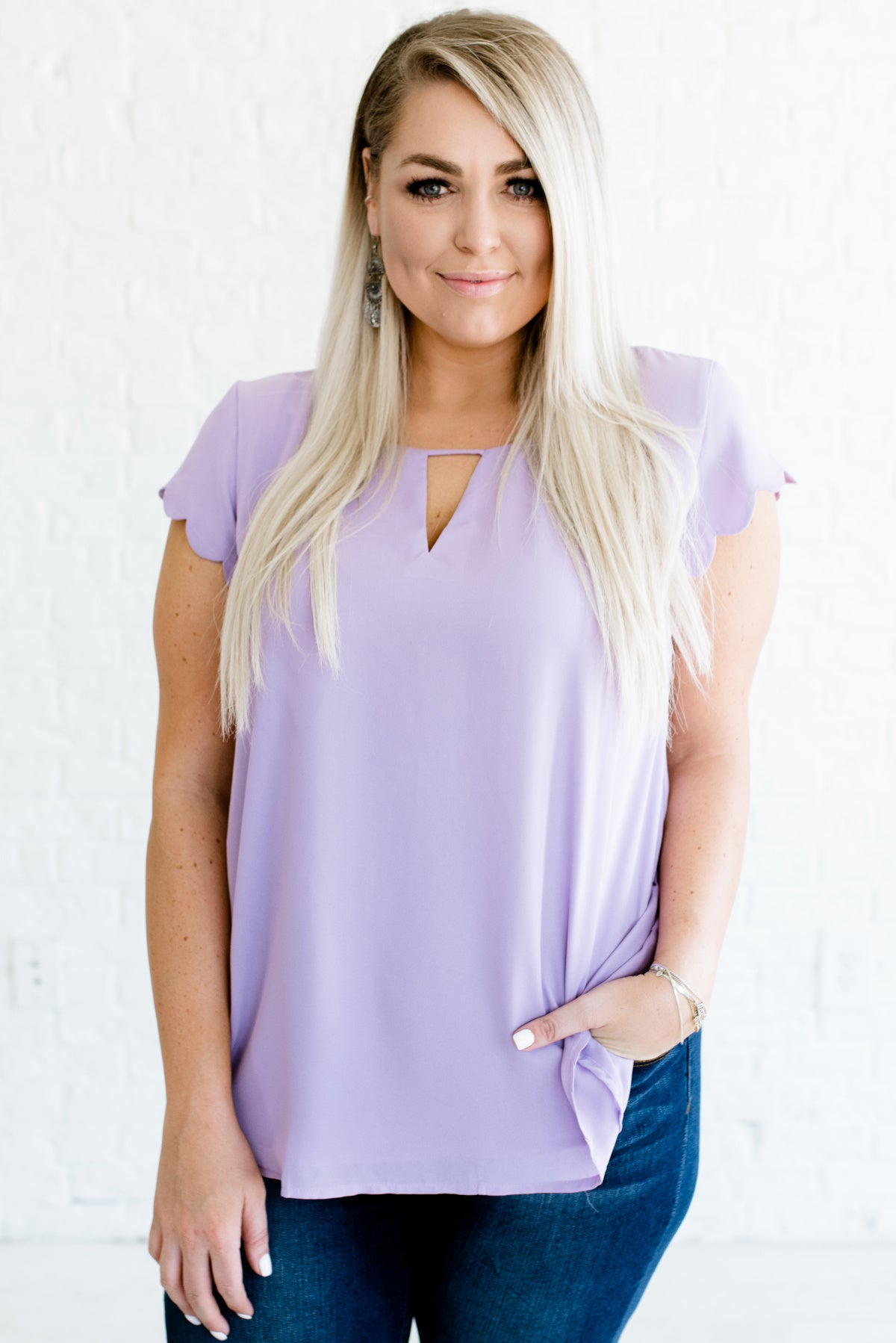 Lilac Purple Plus Size Boutique High-Quality Blouses for Women