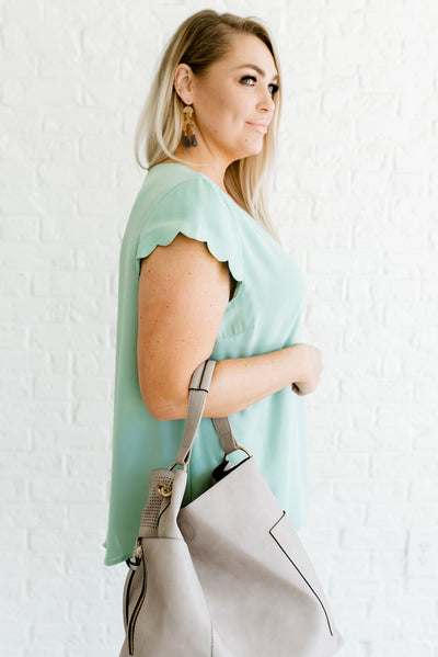 Mint Blue Women's Spring and Summertime Plus Size Boutique Clothing