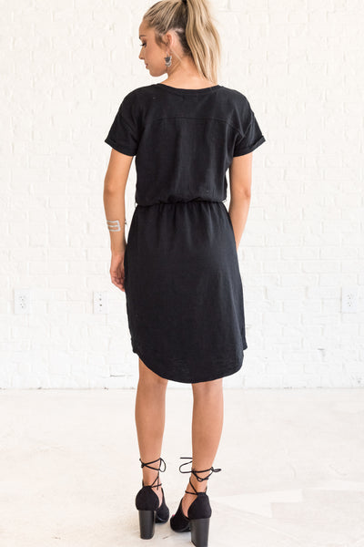 Women's Black Dresses with Pockets