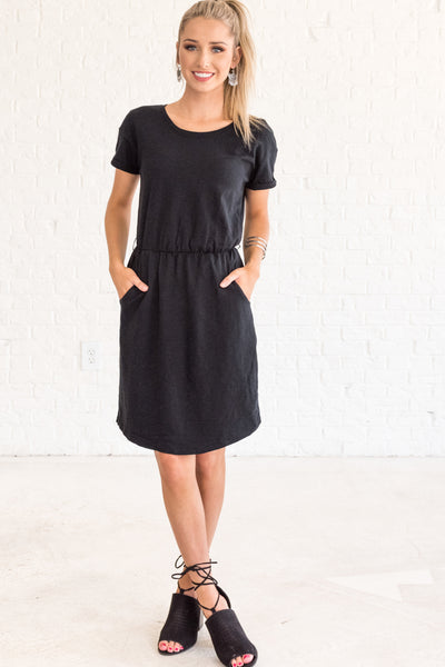Stand Your Ground Black Mini Dress Dresses With Pockets